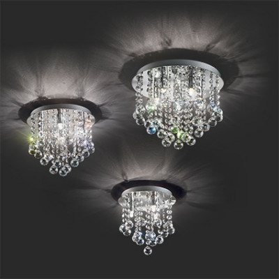 Ideal Lux - Luxury - Bijoux PL4 - Lampe de plafond à quattre lumières avec cristaux