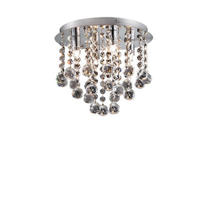 Ideal Lux - Luxury - Bijoux PL4 - Lampe de plafond à quattre lumières avec cristaux - Chrome - LS-IL-089478