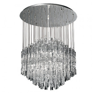 Ideal Lux - Majestic Waterfall - Majestic SG10 - Lampe de plafond avec pampilles en verre