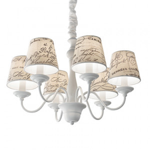Ideal Lux - Provence - Coffee SP6 - Lampe suspension vintage six lumières