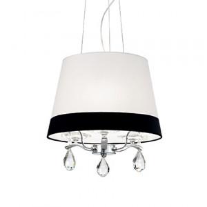 Ideal Lux - Provence - Domus SP3 - Lustre trois lumières avec abat-jour bicolore