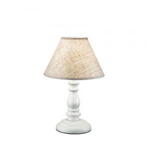 Ideal Lux - Provence - Provence TL1 Small - Lampe de table avec bois et tissut