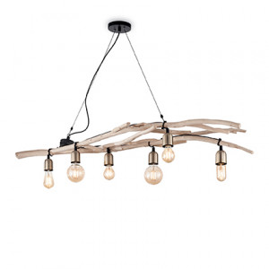 Ideal Lux - Rustic - Driftwood SP6 - Suspension