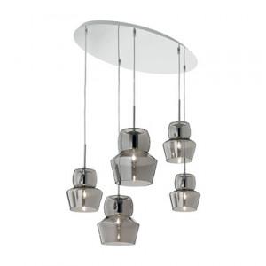 Ideal Lux - Zeno - Zeno SP5 - Suspension cique diffuseurs en verre