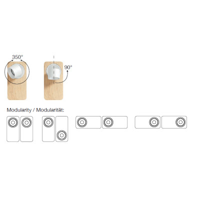 Linea Light - Applique - Beebo PL - Lampe design modulaire