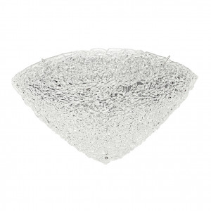 Linea Light - Artic - Plafonnier/applique quartier demi-sphérique 50x50cm - Artic - Cristal - LS-LL-4663