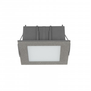 Linea Light - Box - Box C FA LED - Spot encastrable au plafond - Ciment -  - Blanc chaud - 3000 K - Diffuse