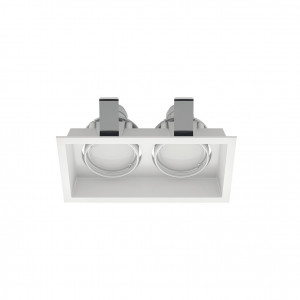 Linea Light - Incas - Incasso C2J FA - Spot encastré au plafond à deux lumières orientables - Blanc - LS-LL-8372