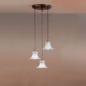 Linea Light - Mami - Lustre à suspensions Mami - trois sources