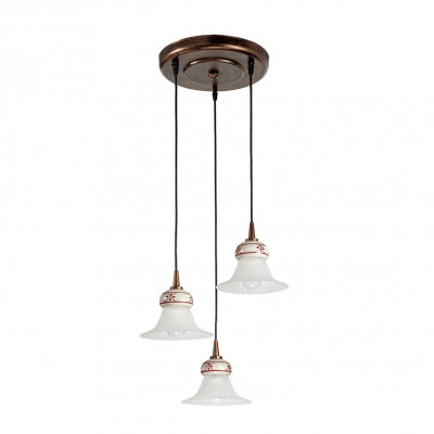 Linea Light - Mami - Lustre à suspensions Mami - trois sources - Rouille - LS-LL-2647