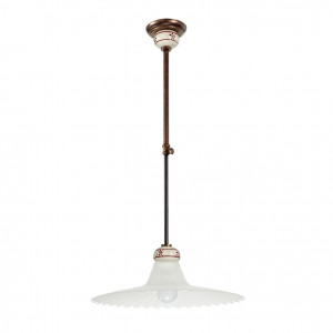 Linea Light - Mami - Lustre suspendu dôme à cloche Mami  - Rouille - LS-LL-2638