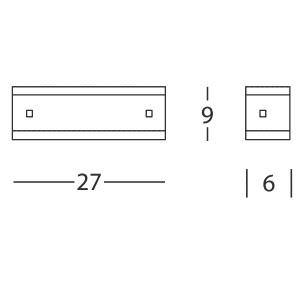 Linea Light - Mille - Applique S nickel/cerisier - Mille