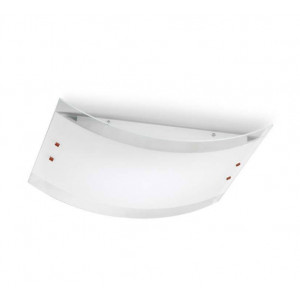 Linea Light - Mille - Lampe murale/plafond S - Mille - Nickel brossé/Cerisier - LS-LL-1040