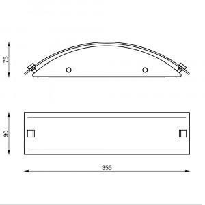 Linea Light - Mille - Mille LED AP M - Applique en verre
