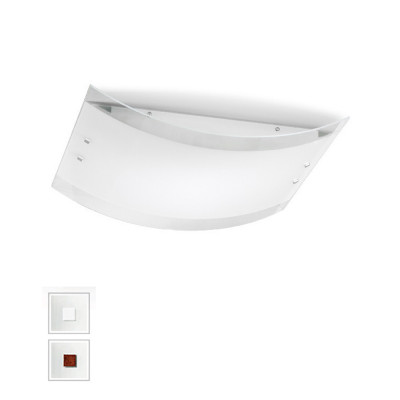 Linea Light - Mille - Mille LED AP PL M - Applique au plafonnier led - Nickel brossé/Cerisier -  - Blanc chaud - 3000 K - Diffuse
