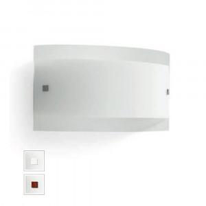 Linea Light - Mille - Mille LED AP PL S - Applique ou plafonnier en verre - Nickel brossé/Cerisier -  - Blanc chaud - 3000 K - Diffuse