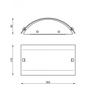 Linea Light - Mille - Mille LED AP PL S - Applique ou plafonnier en verre