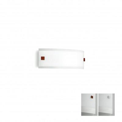 Linea Light - Mille - Mille LED AP S - Applique aux lignes claires - Nickel brossé/Cerisier -  - Blanc chaud - 3000 K - Diffuse