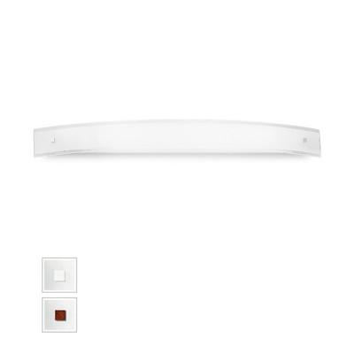 Linea Light - Mille - Mille LED AP XXL - Lampe murale - Nickel brossé/Cerisier -  - Blanc chaud - 3000 K - Diffuse