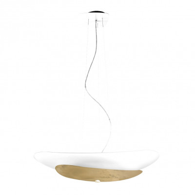 Linea Light - Moledro - Moledro P SP - Suspension design - Blanc/Or - LS-LL-90318