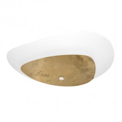 Linea Light - Moledro - Moledro S PL - Plafonnier design - Blanc/Or - LS-LL-90317