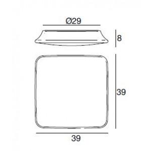 Linea Light - My White - My White M PL square - Plafonnier carré