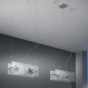 Linea Light - Orbis - Suspension à 2 spots Orbis