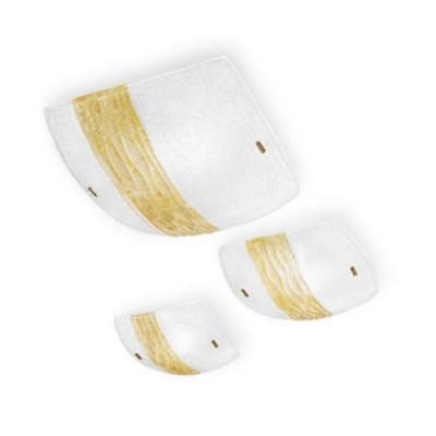 Linea Light - Syberia - Plafonnier et applique cristal et ambre L  -Syberia