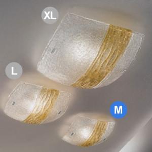 Linea Light - Syberia - Plafonnier et applique cristal et ambre M - Syberia
