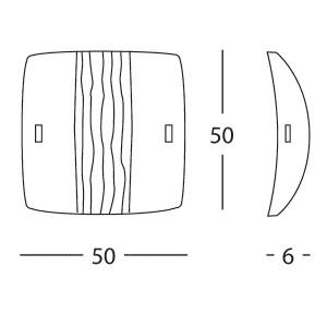 Linea Light - Syberia - Plafonnier et applique cristal et ambre XL - Syberia