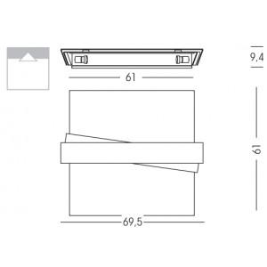 Linea Light - Zig Zag - Lampe au plafond L - Zig Zag