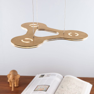Lumen Center - Flat - Flat Ring 3 SP LED - Lampe suspension avec trois points lumineux