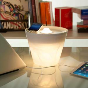 Rotaliana - MultiPot+ - MultiPot+ Blanc - Vase lumineux blanc