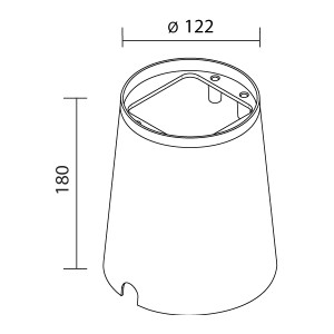 Traddel - Wall housing and outercasing - Traddel Outer casing 52700