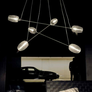 Vistosi - Damasco - Damasco SP6 - Lampe suspension 6 lumières
