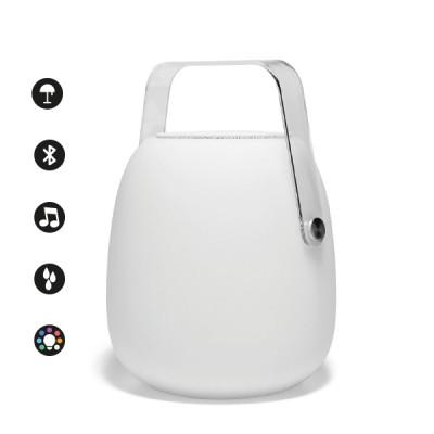 Altri Brand - IOlux - Pic-Sound TL OUT LED RGB - Lampada da tavolo con altoparlante bluetooth - Bianco - LS-LC-IOPIC - RGBW - Diffusa