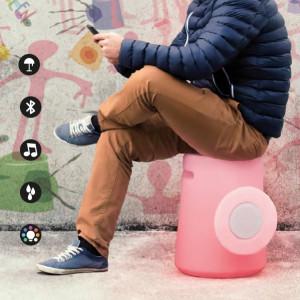 Altri Brand - IOlux - Sgabello-fono TE OUT LED RGB - Sgabello con altoparlante bluetooth