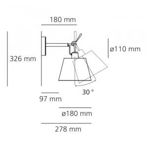 Artemide - Tolomeo - Tolomeo AP 18 - Lampada da parete S