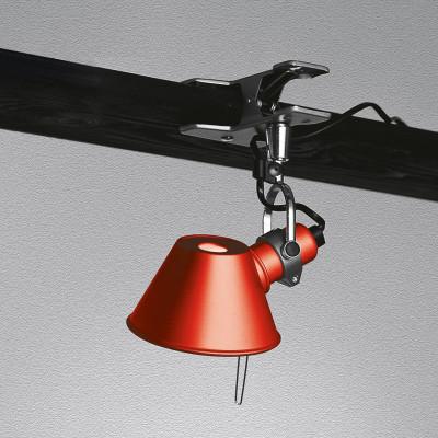 Artemide - Tolomeo - Tolomeo AP Micro Pinza - Lampada da parete - Rosso - LS-AR-A010810