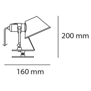 Artemide - Tolomeo - Tolomeo AP Micro Pinza - Lampada da parete