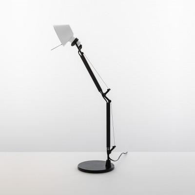 Artemide - Tolomeo - Tolomeo TL Micro Bi-Color - Lampada da Tavolo Bi-color - Bianco/Nero - LS-AR-AS01183003