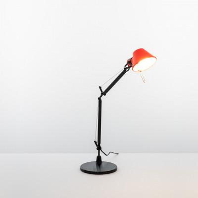 Artemide - Tolomeo - Tolomeo TL Micro Bi-Color - Lampada da Tavolo Bi-color - Rosso/Nero - LS-AR-AS01183002