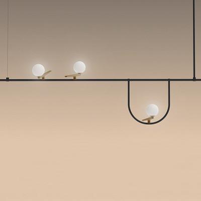 Lampadari Con Faretti A Led.Yanzi 1 Sp Led Lampadario Di Design A Tre Luci