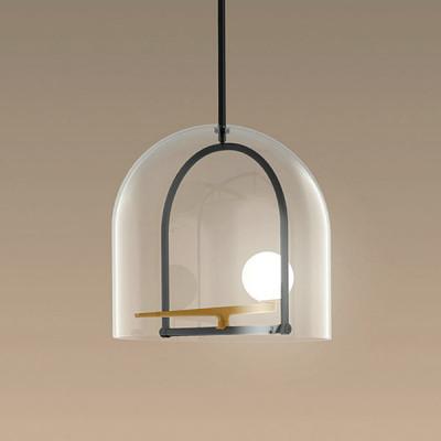 Campane Di Vetro Per Lampadari.Yanzi Sp Led Lampadario Moderno Con Diffusore In Vetro Soffiato