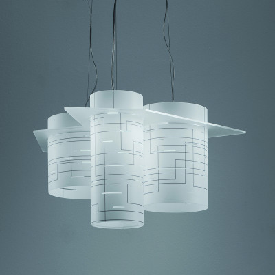 Artempo - Brothers - Brothers SP - Lampada a sospensione design - Acrilux Bianco - LS-AT-107-B