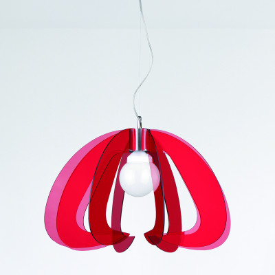 Artempo - Metropolis - Metropolis SP - Lampada a sospensione design - Acrilux Rosso Trasparente - LS-AT-116-R