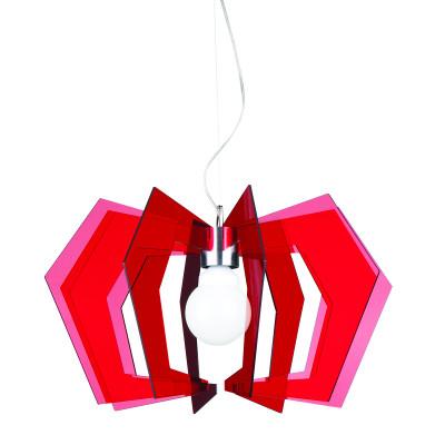Artempo - Spider - Spider SP - Lampadario sospensione cucina - Acrilux Rosso Trasparente - LS-AT-115-R