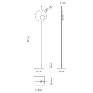 Axo Light - Kwic - Kwic 36 PT LED - Piantana di design