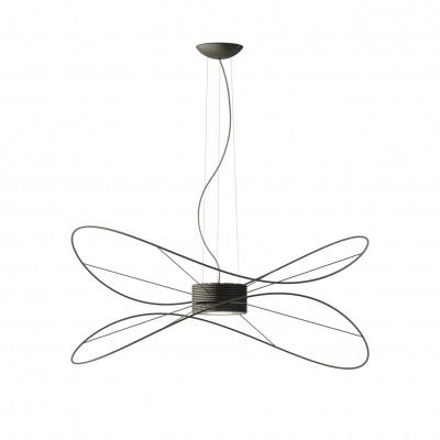 Axo Light - Thin - Hoops 2 SP LED - Lampadario a 2 cerchi - Nero - LS-AX-SPHOOPS2NENELED - Bianco caldo - 3000 K - Diffusa