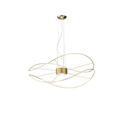 Axo Light - Thin - Hoops 2 SP LED - Lampadario a 2 cerchi - Oro - LS-AX-SPHOOPS2ORORLED - Bianco caldo - 3000 K - Diffusa